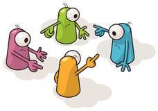 Quattro creature variopinte Fotografia Stock