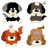 Quattro cuccioli Fotografia Stock