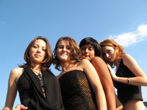 Quattro donne Fotografie Stock