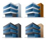Quattro edifici per uffici di vettore Immagine Stock