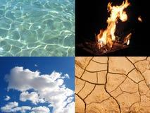 Quattro elementi fotografia stock
