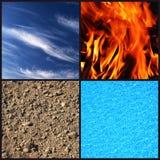 Quattro elementi Fotografia Stock Libera da Diritti