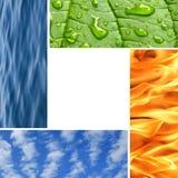 Quattro elementi della natura fotografia stock libera da diritti