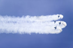 Quattro Falcons di combattimento dell'aeronautica di Stati Uniti F-16C Fotografie Stock