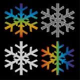 Quattro fiocchi di neve Fotografie Stock