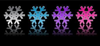 Quattro fiocchi di neve Immagine Stock Libera da Diritti