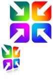 Quattro frecce Fotografie Stock