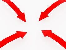 Quattro frecce Immagine Stock Libera da Diritti