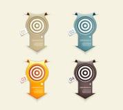 Quattro frecce della carta colorata illustrazione di stock