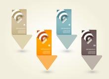 Quattro frecce della carta colorata royalty illustrazione gratis