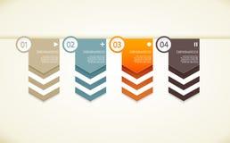 Quattro frecce della carta colorata Immagini Stock