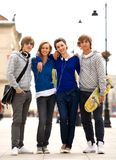 Quattro giovani adolescenti Fotografia Stock Libera da Diritti