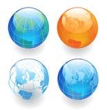 Quattro globi Immagine Stock Libera da Diritti