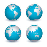 Quattro globi illustrazione vettoriale