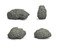 Quattro grandi pietre Immagini Stock