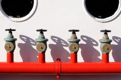 Quattro idranti Fotografie Stock