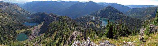 Quattro laghi wilderness immagini stock
