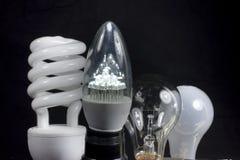 Quattro lampadine Immagini Stock Libere da Diritti