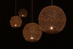 Quattro lanterne d'ardore Immagine Stock Libera da Diritti