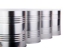 Quattro latte del metallo Immagini Stock Libere da Diritti