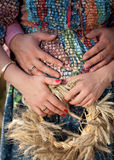 Quattro mani Fotografia Stock