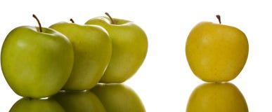 Quattro mele Fotografia Stock