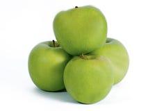 Quattro mele su bianco Fotografie Stock Libere da Diritti
