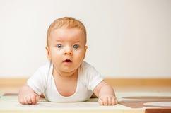Quattro mesi del bambino Fotografia Stock