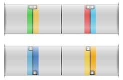 Quattro modelli di opzioni illustrazione vettoriale