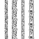 Quattro modelli floreali verticali Fotografia Stock Libera da Diritti