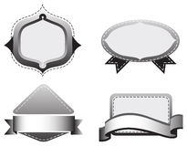 Quattro modelli grigi Immagine Stock