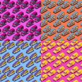 Quattro modelli isometrici senza cuciture dell'automobile illustrazione di stock