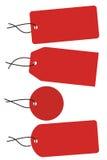Quattro modifiche rosse con stringa nera royalty illustrazione gratis