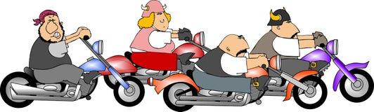 Quattro motociclisti illustrazione di stock