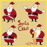 Saluti di Santa Claus_Christmas Immagini Stock Libere da Diritti