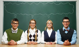 Quattro nerd Fotografia Stock Libera da Diritti