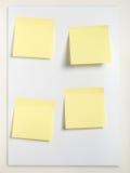 Quattro note appiccicose Fotografia Stock