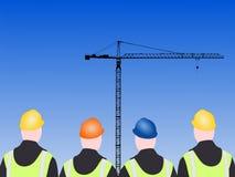 Quattro operai di costruzione illustrazione di stock