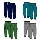 Quattro pantaloni Fotografia Stock