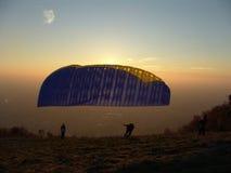 quattro paraglidings Fotografia Stock Libera da Diritti