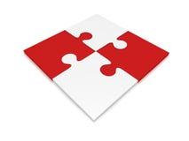 Quattro parti di puzzle Fotografie Stock Libere da Diritti