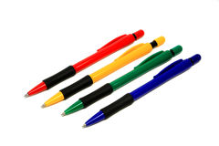 Quattro penne a sfera Fotografie Stock