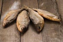 Quattro pesci asciutti Fotografie Stock Libere da Diritti