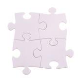 Quattro pezzi di puzzle Fotografie Stock Libere da Diritti