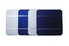 Quattro pile solari Immagini Stock