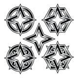 Quattro poligono hexa del cerchio di ellisse della stella del punto 4point Fotografie Stock Libere da Diritti