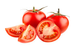 Quattro pomodori Fotografie Stock