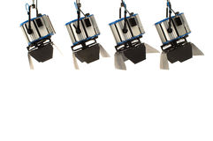 Quattro proiettori. Fotografie Stock Libere da Diritti