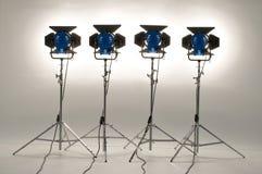 Quattro proiettori. Immagini Stock Libere da Diritti