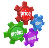 Quattro Ps i principi di introduzione sul mercato mescolano il riuscito affare Fotografia Stock Libera da Diritti